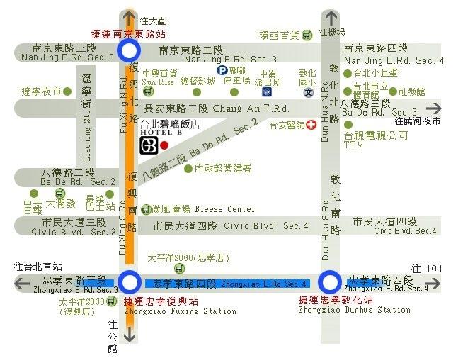 台北旅游碧瑶饭店地图